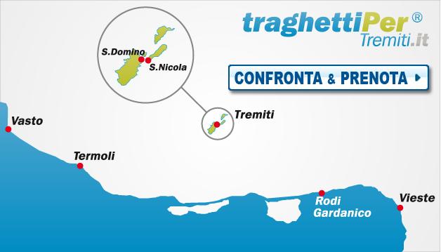 partenze arrivi traghetti e aliscafi per le isola tremiti