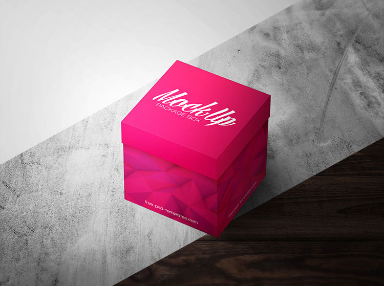 Square Package Box Mock-up PSD