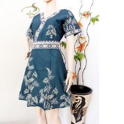 Dress-Batik-Kimono-Bambu-Hijau