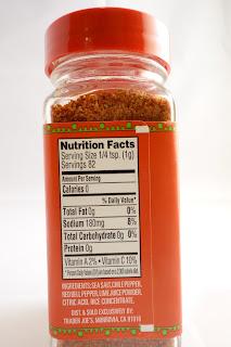Tajin seasoning nutrition facts