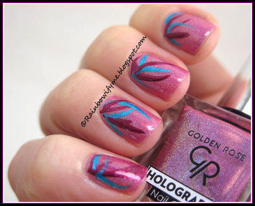 Golden Rose ~ Holographic Nail Colour #04