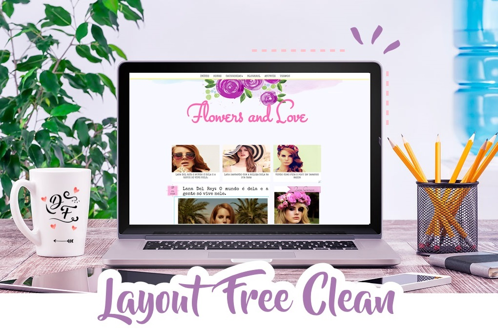 Layout Free Clean e Aquarela para blogger