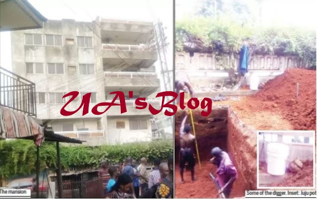 Shock As Mysterious Moving Object Is Found Buried Deep Under 5-Storey Mansion In Onitsha