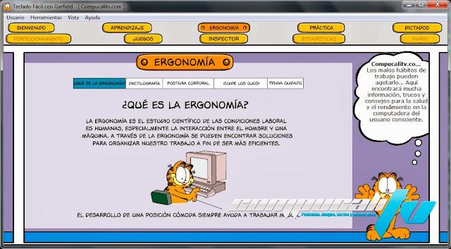 Aprende a Usar el Teclado con Garfield
