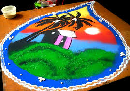 Rangoli Designs for Diwali: Rangoli Designs Nature Theme