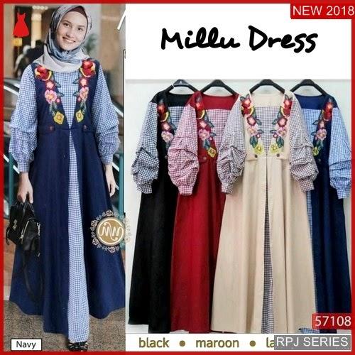RPJ009D227 Model Dress Millu Cantik Dress Wanita