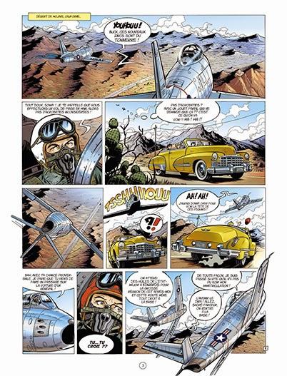Page de buck Danny Classic T1 Sabre sur la Corée de Zumbiehl et Arroyo chez Zéphyr BD et Dupuis