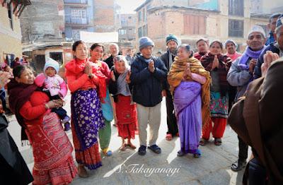 Nepal Bungamati 歓迎してくれました。