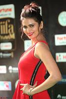 Meenakshi Dixit in Red One Shoulder Red Zipped up gown at IIFA Utsavam Award 37.JPG
