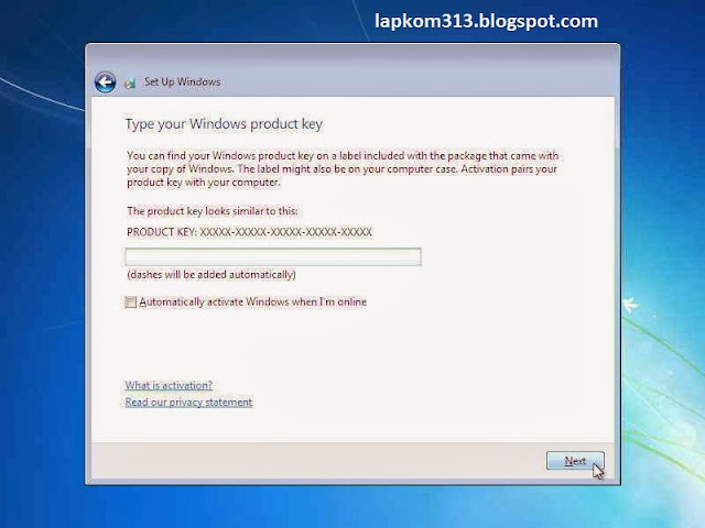 Menginstall windows 7