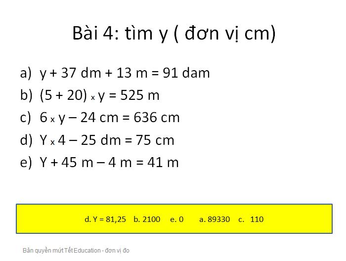 Bài tập đổi đơn vị đo độ dài - Toán lớp 5(11)