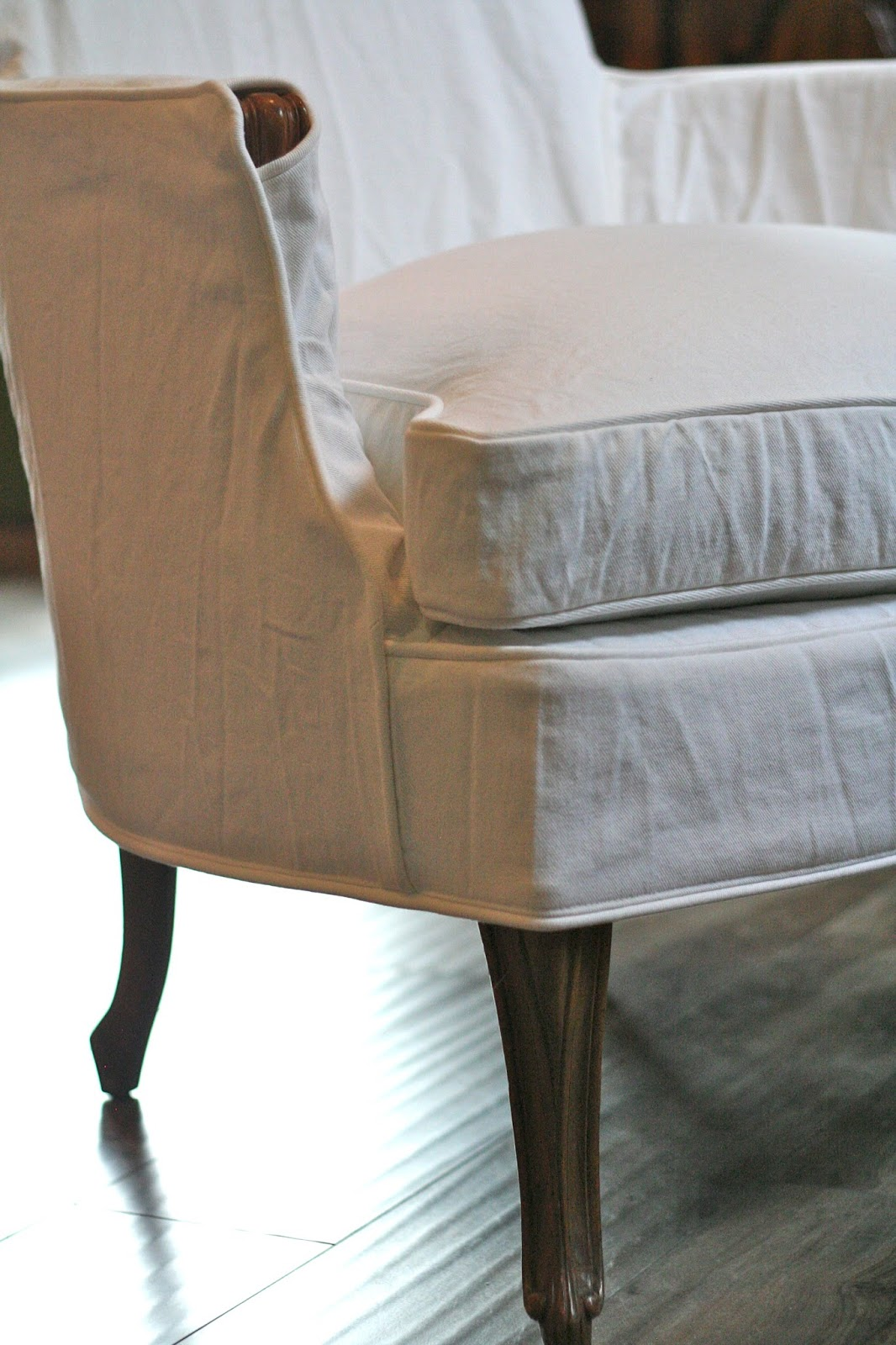Slip Cover For Chair Custom Slipcovers By Shelley Bergere Chairs Exposed Wood