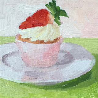 #30 'Strawberry Cupcake' 6×6″