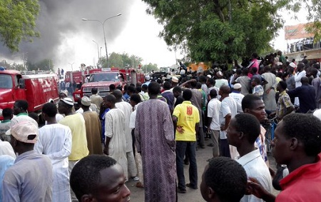 fire explosion filling station kano