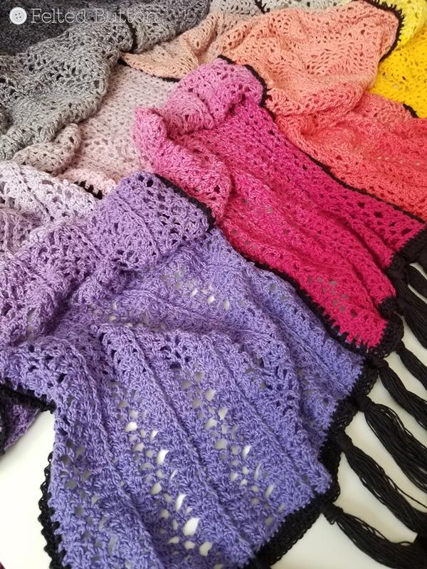 Aurora Blanket crochet pattern by Susan Carlson of Felted Button
