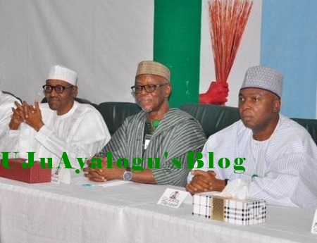 NEC Meeting: Drama As Buhari's Security Guards, APC Governor's Guards Clash At secretariat Gate