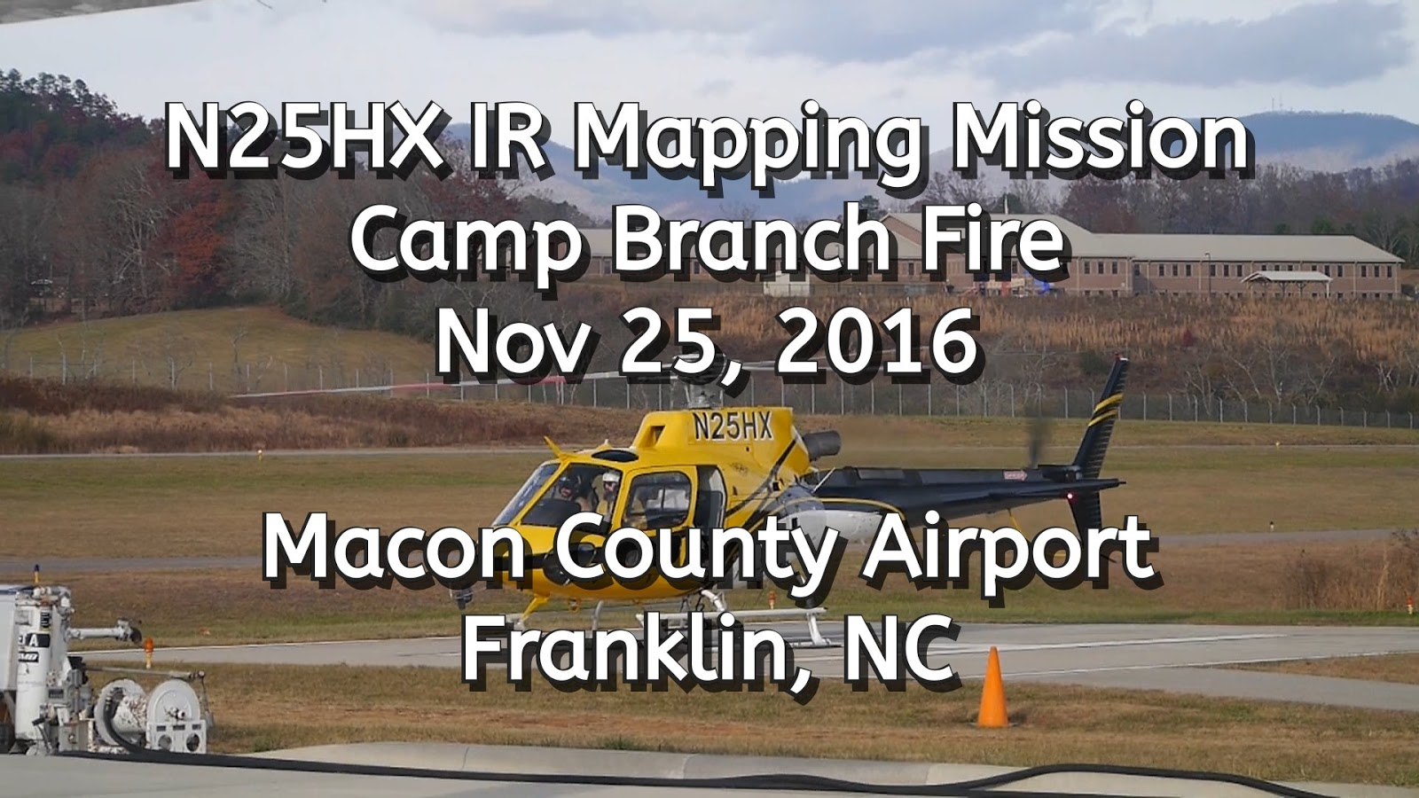 N25HX IR Mapping Mission on the Camp Branch Fire