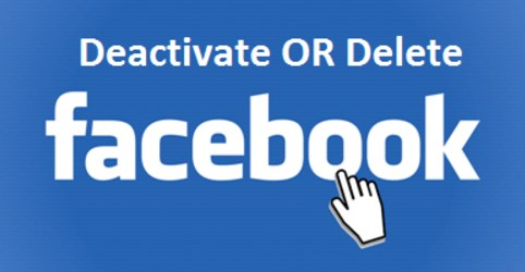 difference between deactivating and deleting facebook