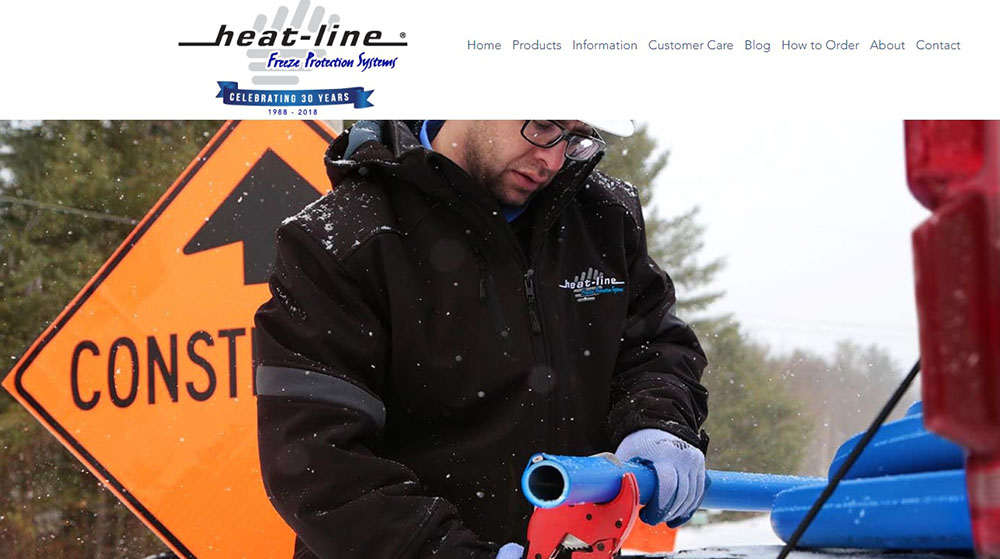 HeatLine landing page