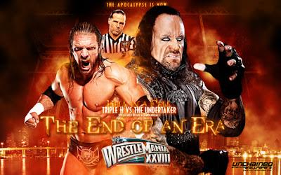 Undertaker walks into hell in a cell: wrestlemania 28   wwe.