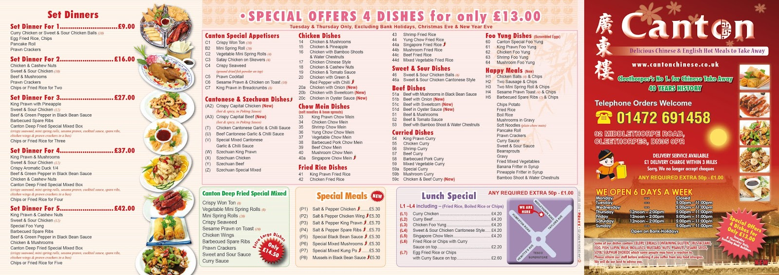 canton chinese  english hot meals to take away