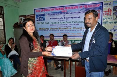 Beautician training for Darjeeling Rongchong Orange Production or DROPS by NHPC