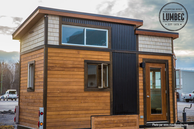 tiny house town the lumbec micro house. Black Bedroom Furniture Sets. Home Design Ideas