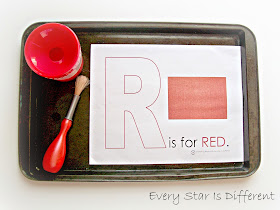 R is for Red Painting Activity (Free Printable)