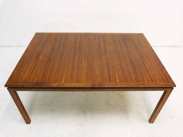 Edward J Wormley Modern Walnut Dining table by Dunbar Closed Small