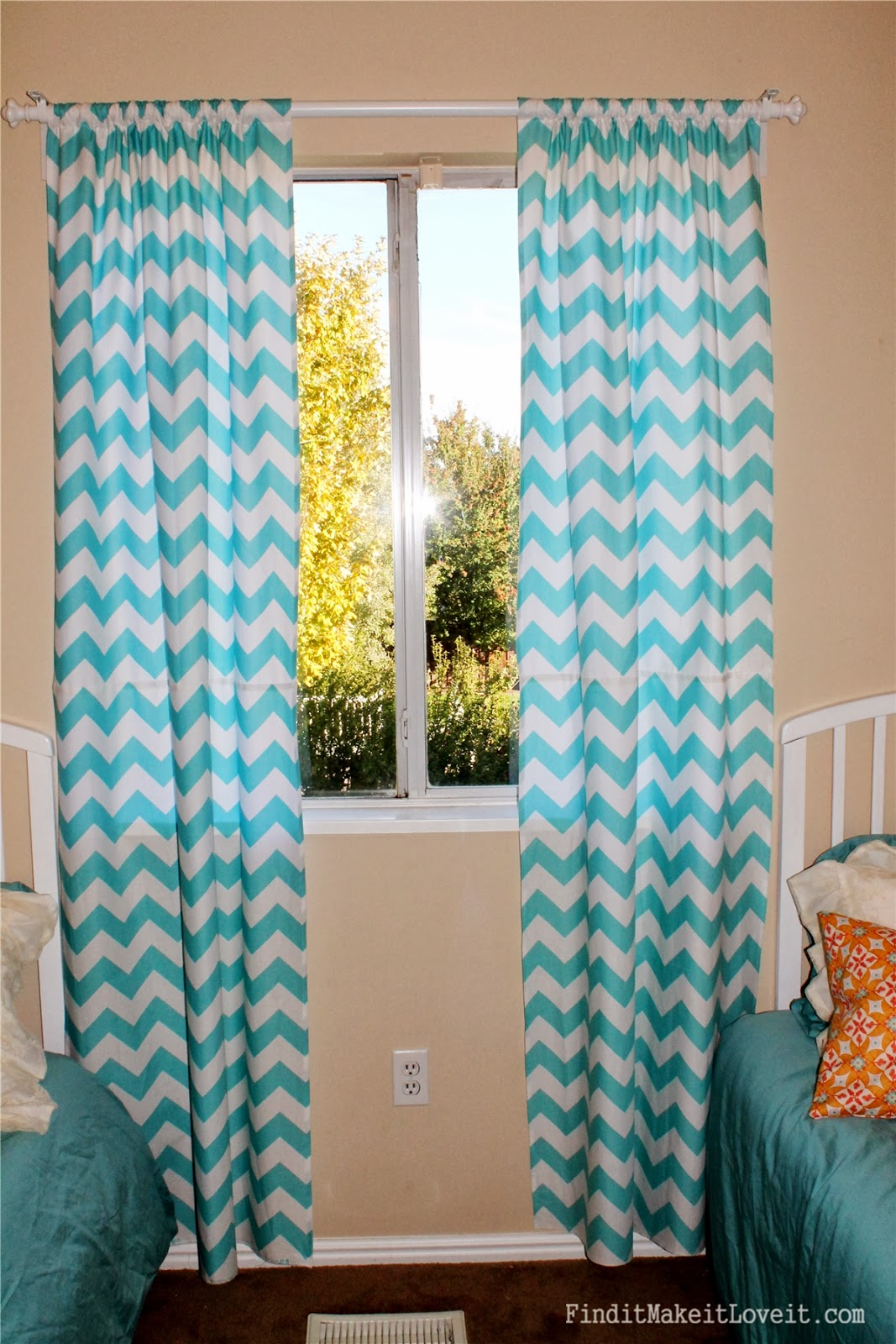 Easy Chevron Curtains Find It Make It Love It