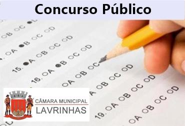 Câmara de Lavrinhas - SP divulga edital de concurso público