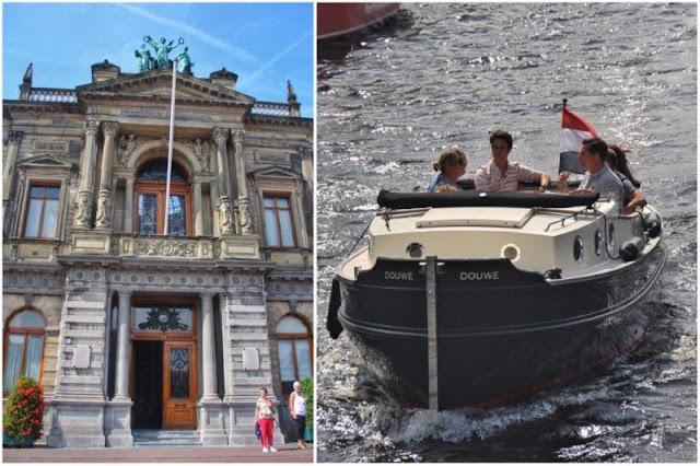 Museo Teyler, barca en canal en Haarlem
