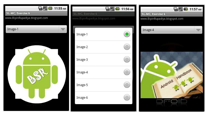 Mr  Bipin S  Rupadiya: spinner in android example