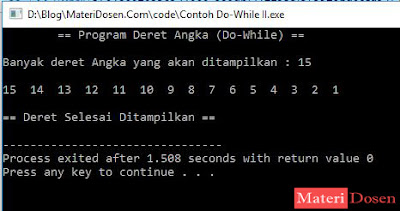 Contoh Program II dengan Perulangan Do-While