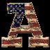 Alfabeto con Bandera de USA Vieja.