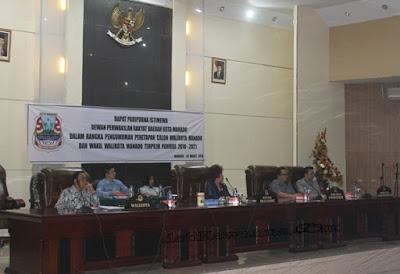Penetapan Walikota dan Walikota Manado Terpilih dalam Rapat Paripurna DPRD