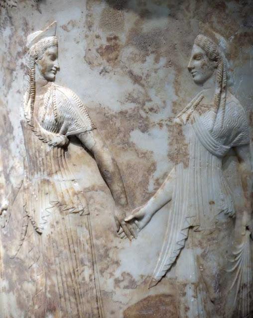 bassorilievo circolare del Museo Archeologico di Atene