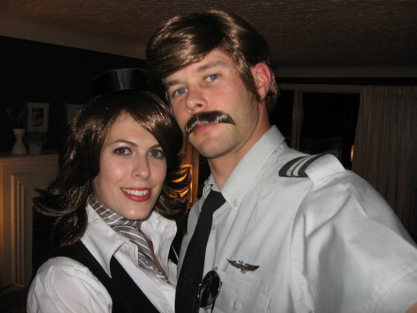 Our first Couple Costume. Airline Pilot and Flight Attendant