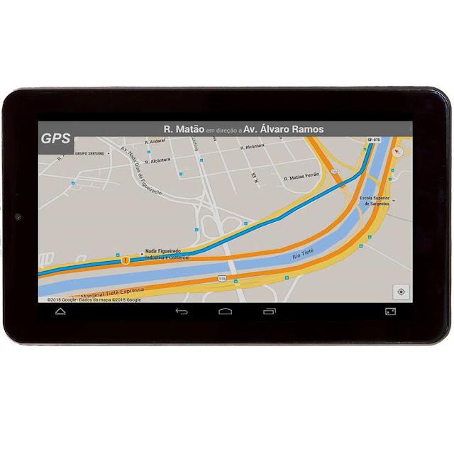 """Tablet Bravva BV-Quad com Tela 7"""", 8GB, Wi-Fi,, GPS, Bluetooth, Android 5.0"""