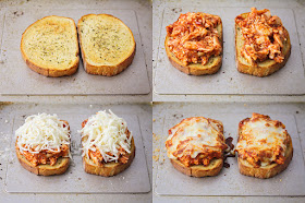 These simple and quick open faced chicken parmesan sandwiches are so easy to make, and full of flavor!