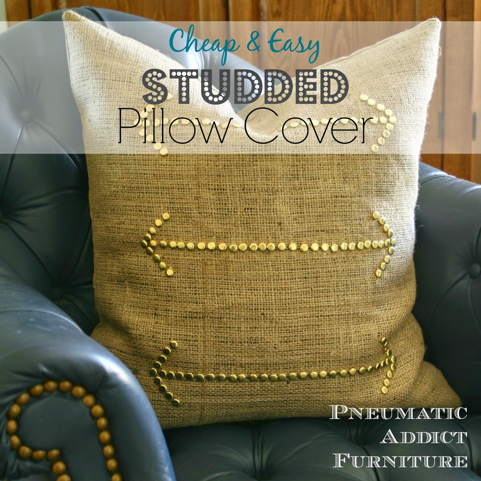 Pneumatic Addict Cheap & Easy Studded Pillow Cover