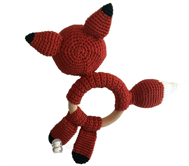 Mordedor zorrito a crochet