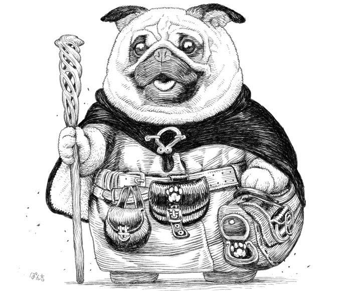 12-Pug-Monk-PankichiM-Mofumofu-Animals-www-designstack-co