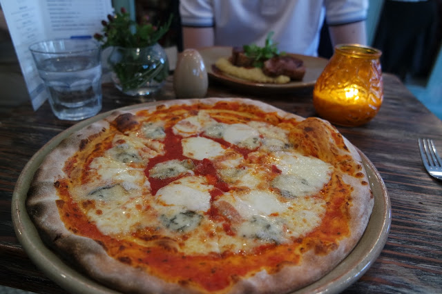 Cena Yarm Restaurant Review Four Cheese Pizza