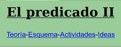 TEORÍA-ESQUEMAS,EL PREDICADO
