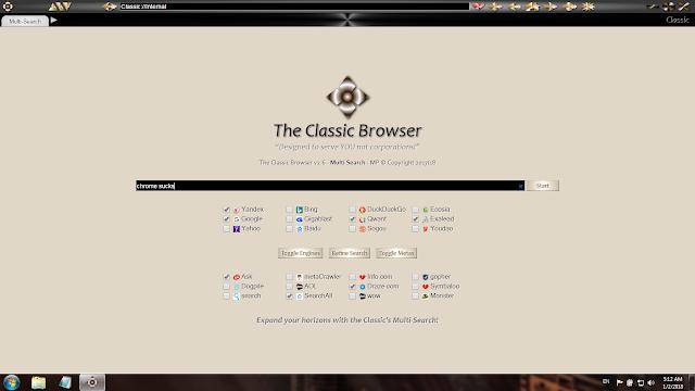تحميل متصفح كلاسيك للكمبيوتر The Classic Browser