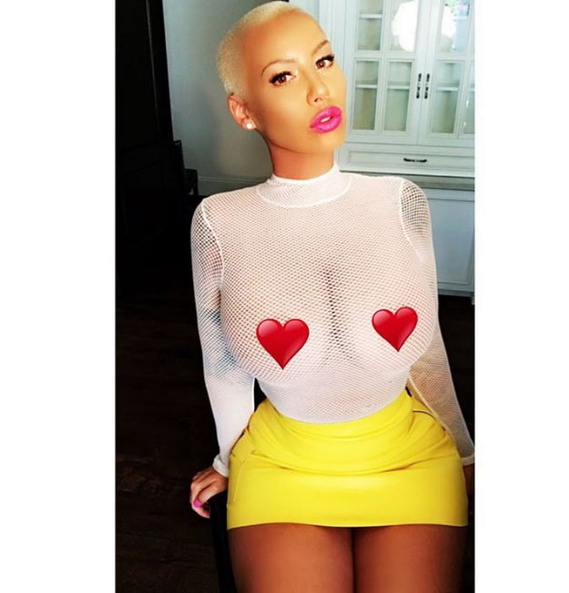 Check out how Amber Rose marked #NoBraDay