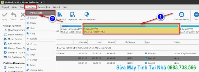 Chọn phân vùng ổ cứng đòi Format