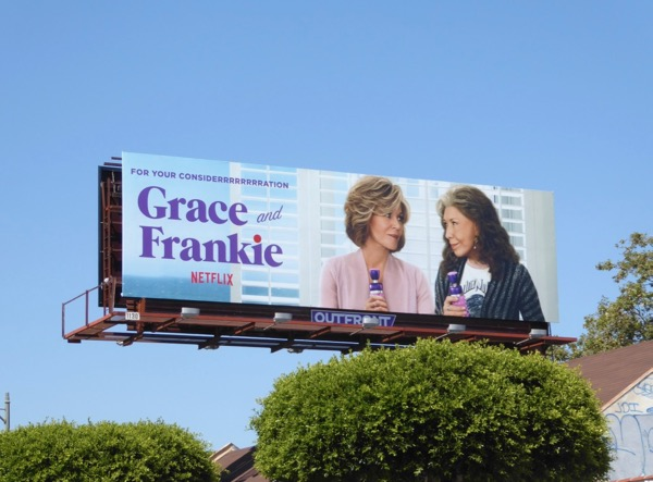 Grace Frankie season 3 Emmy FYC billboard