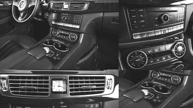 Tựa tay Mercedes CLS 400 2017 được thiết kế nổi bật với rất nhiều tiện ích bên trên